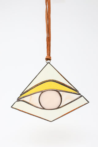 Colin Adrian Third Eye in Yellow/Opaque Off White/Yellow | Oroboro Store | New York, NY
