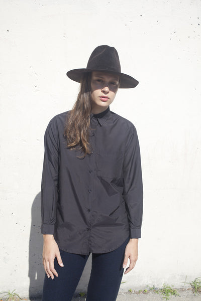 Base Range Basic Shirt in Black | Oroboro Store | Brooklyn, New York