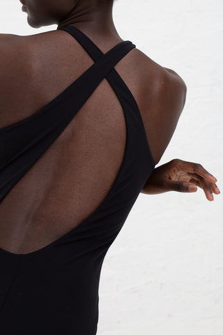 Araks Umika One Piece in Black Close Up Back View | Oroboro Store | New York, NY