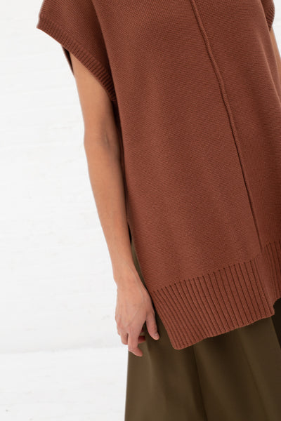 Nomia Sleveless Seam TNeck in Nutmeg | Oroboro Store | New York, NY