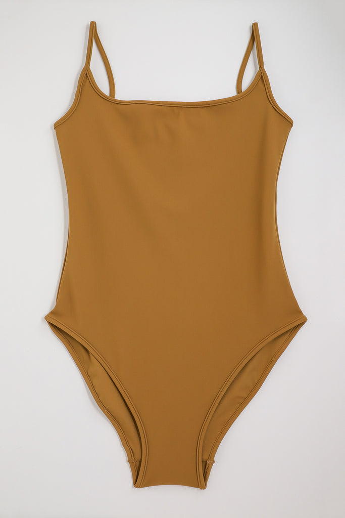 Nu Swim Noodle Suit in Tobacco | Oroboro Store | New York, NY