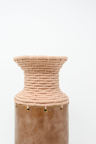 Karen Tinney One of a Kind Vessel #638 in Brown/Blush | Oroboro Store | New York, NY