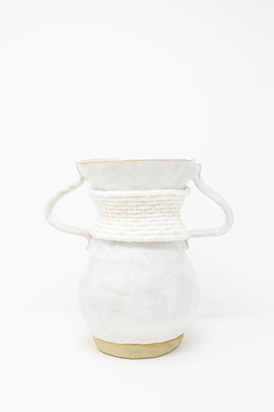 Karen Tinney One of a Kind Vessel #637 in White/Natural | Oroboro Store | New York, NY