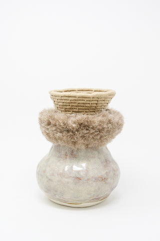 Karen Tinney One of a Kind Vessel #639 in Gray/Taupe | Oroboro Store | New York, NY