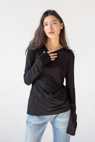 Baserange Long Sleeve Tee in Black | Oroboro Store | New York, NY