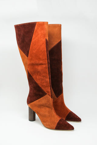 Ulla Johnson Jerri Boot in Suede Combo, Side View, Oroboro Store, New York, NY