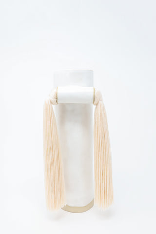 Karen Tinney Vase #531 in White/Off-White | Oroboro Store | New York, NY
