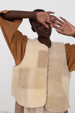 Vest in Neutral Patchwork