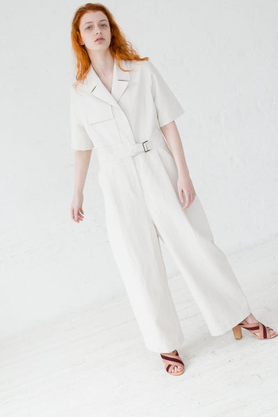 Studio Nicholson Hesse Jumpsuit in Neutral | Oroboro Store | New York, NY