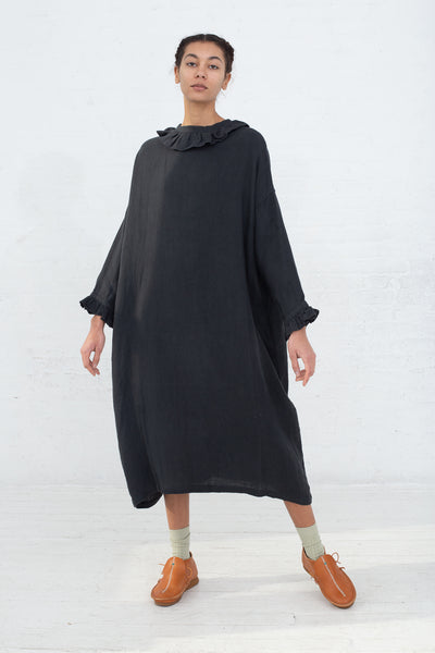 Ichi Antiquites Dress in Charcoal, Front View Full Body