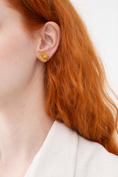 Mirit Weinstock Sparkling Star Stud Earrings in Plated Gold | Oroboro Store | New York, NY