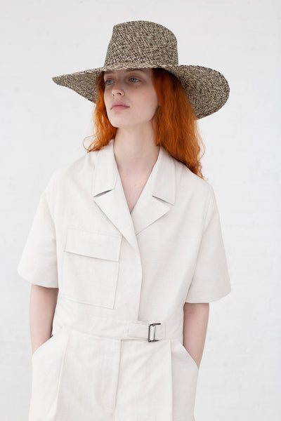 Clyde Pinch Panama Hat in Beige/Tan Mix|Oroboro Store | New York, NY
