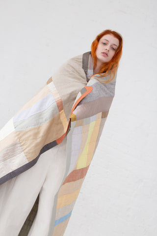Thompson Street Studio Arc Quilt in Neutral | Oroboro Store | New York, NY