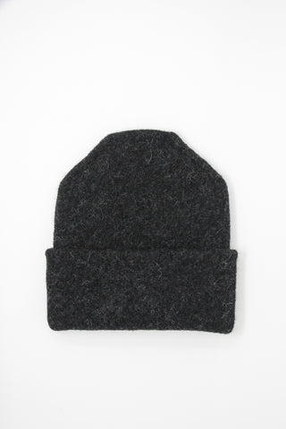 Lauren Manoogian Carpenter Hat in Black Melange | Oroboro Store | New York, NY