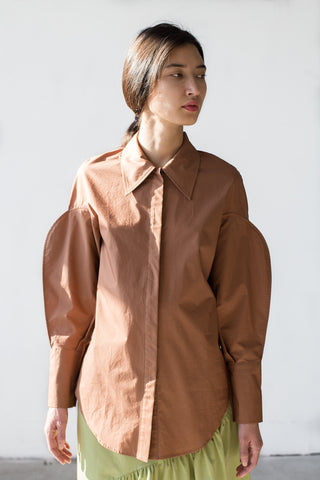 Rejina Pyo Tate Shirt in Hazelnut Brown | Oroboro Store | New York, NY