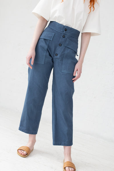 As Ever Tanker Pant in 100% Cotton Twilight | Oroboro Store | New York, NY