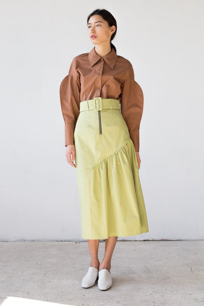 Rejina Pyo Bonnie Skirt in Sage | Oroboro Store | New York, NY