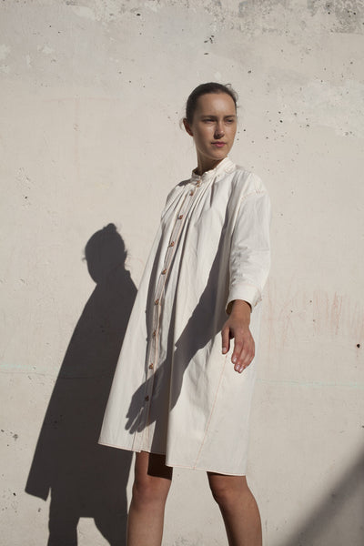 Caron Callahan Maria Shirt Dress in Vintage Poplin