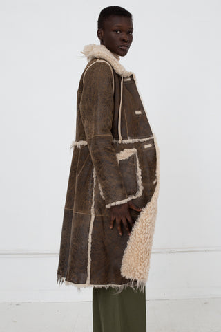 Milena Silvano Aubrey Coat in Aviator, Side View, Oroboro Store, New York, NY