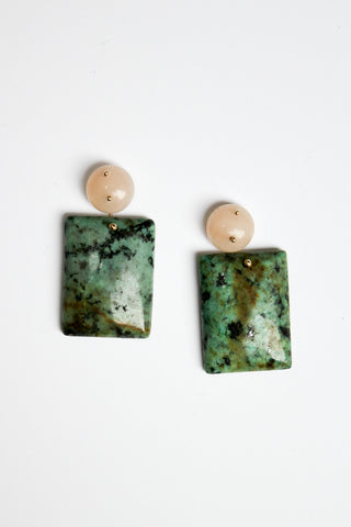 Jessica Winzelberg Aventurine and African Jade Earrings | Oroboro Store | New York, NY