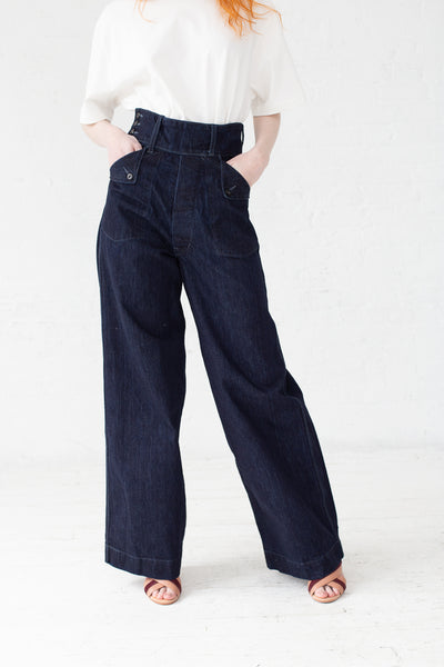As Ever Willow Pant in Denim | Oroboro Store | New York, NY
