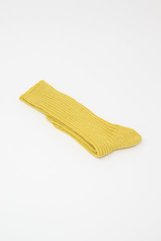 Ichi Antiquites Socks in Yellow | Oroboro Store | New York, NY