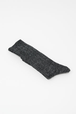 Ichi Antiquites Socks in Patterned Black | Oroboro Store | New York, NY