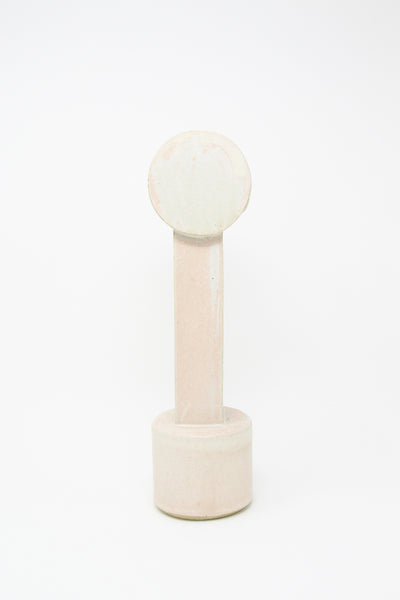 BZIPPY Medium Circle Top Vase in Matte Cream | Oroboro Store | New York, NY