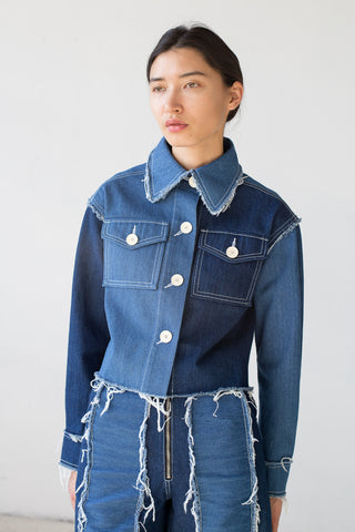 Rejina Pyo Tessa Jacket in Denim Blue Mix | Oroboro Store | New York, NY