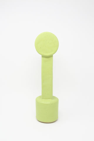 BZIPPY Medium Circle Top Vase in Chartreuse | Oroboro Store | New York, NY