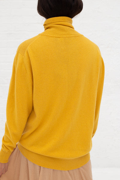 Ryan Roche Cashmere Basic T-Neck Sweater in Marigold | Oroboro Store | New York, NY
