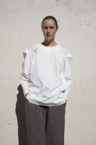 A Detacher Frona Blouse in White | Oroboro Store | Brooklyn, New York