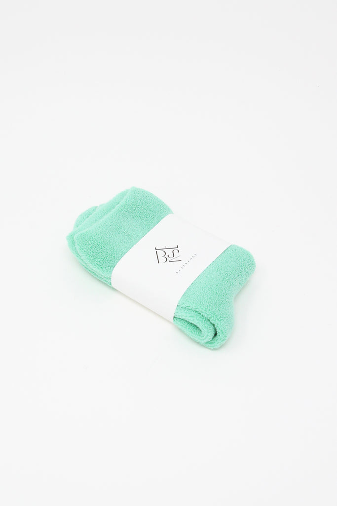 Baserange Buckle Overankle Socks in Mint Folded With Packaging, Oroboro Store, New York, NY