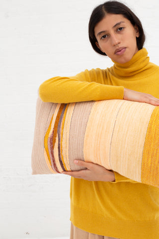 Jess Feury Lumbar Pillow in Ochre, Peach & Lavender | Oroboro Store | New York, NY