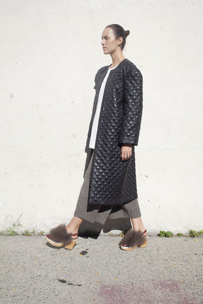 A Détacher Quilted Catalina Coat in Black | Oroboro Store | Brooklyn, New York