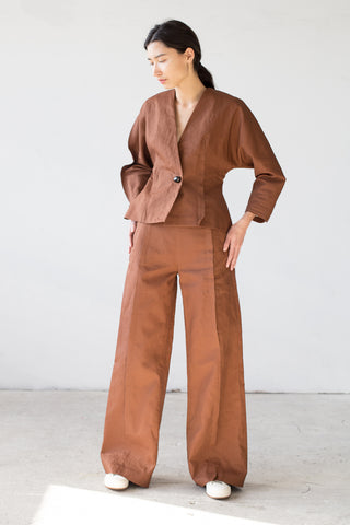 Samuji Flor Trousers in Brown | Oroboro Store | New York, NY