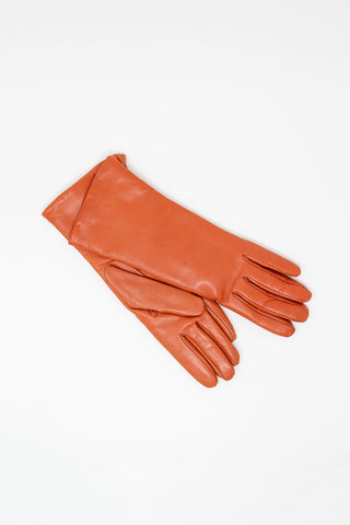Clyde Lambskin Gloves in Burnt Orange | Oroboro Store | New York, NY