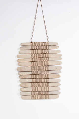 Amy Dov Ceramic and Linen Wall Hanging in Natural full view