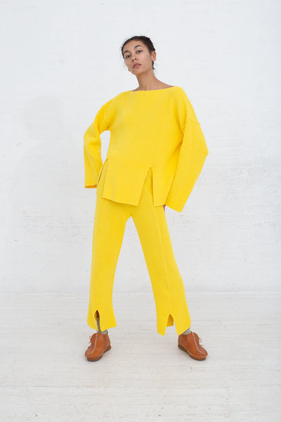Baserange Ware Pullover in Giallo full front view