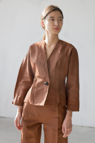 Samuji Fonda Blazer in Brown | Oroboro Store | New York, NY