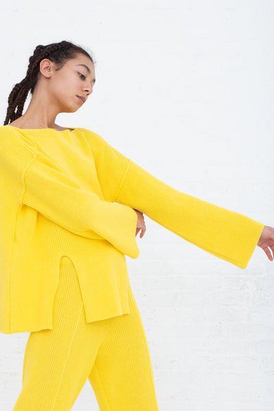 Baserange Ware Pullover in Giallo side view