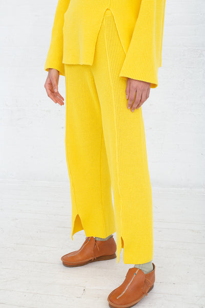 Baserange Ware Pants in Giallo front view