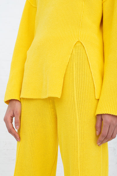Baserange Ware Pants in Giallo cropped front view