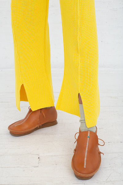 Baserange Ware Pants in Giallo cropped detail view
