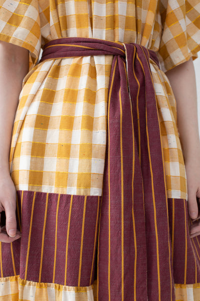 Ace & Jig Casa Dress in Fez w/ Valley Close Up Of Belt | Oroboro Store | New York, NY