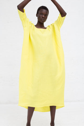 Rachel Craven Long Cocoon Dress in Cadium Yellow | Oroboro Store | New York, NY