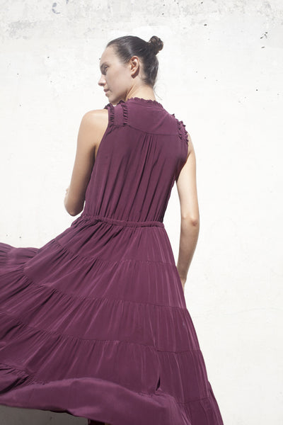 Minetta Dress in Bordeaux