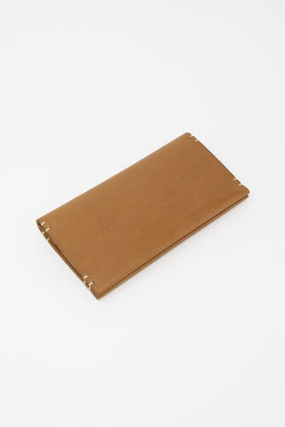 FEIT Womens Hand Sewn Rectangle Bifold in Tan | Oroboro Store | New York, NY