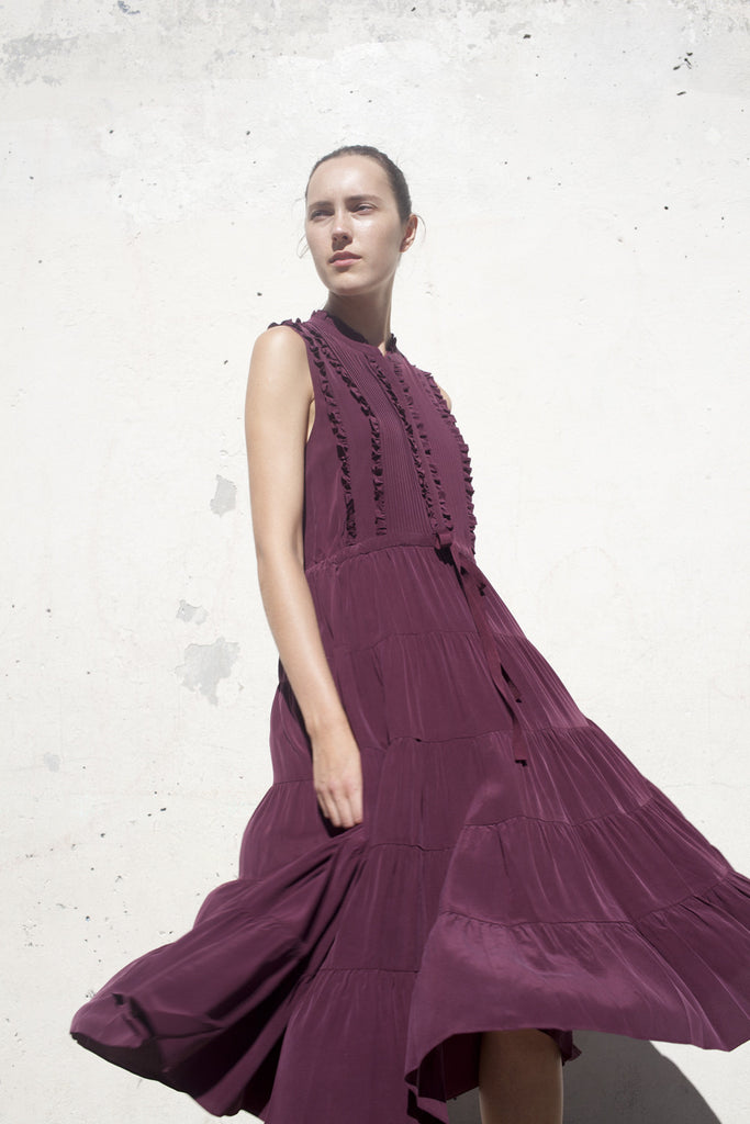 Ulla Johnson Minetta Dress in Bordeaux | Oroboro Store | Brooklyn, New York