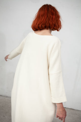 Black Crane Bud Dress in Cream | Oroboro Store | New York, NY